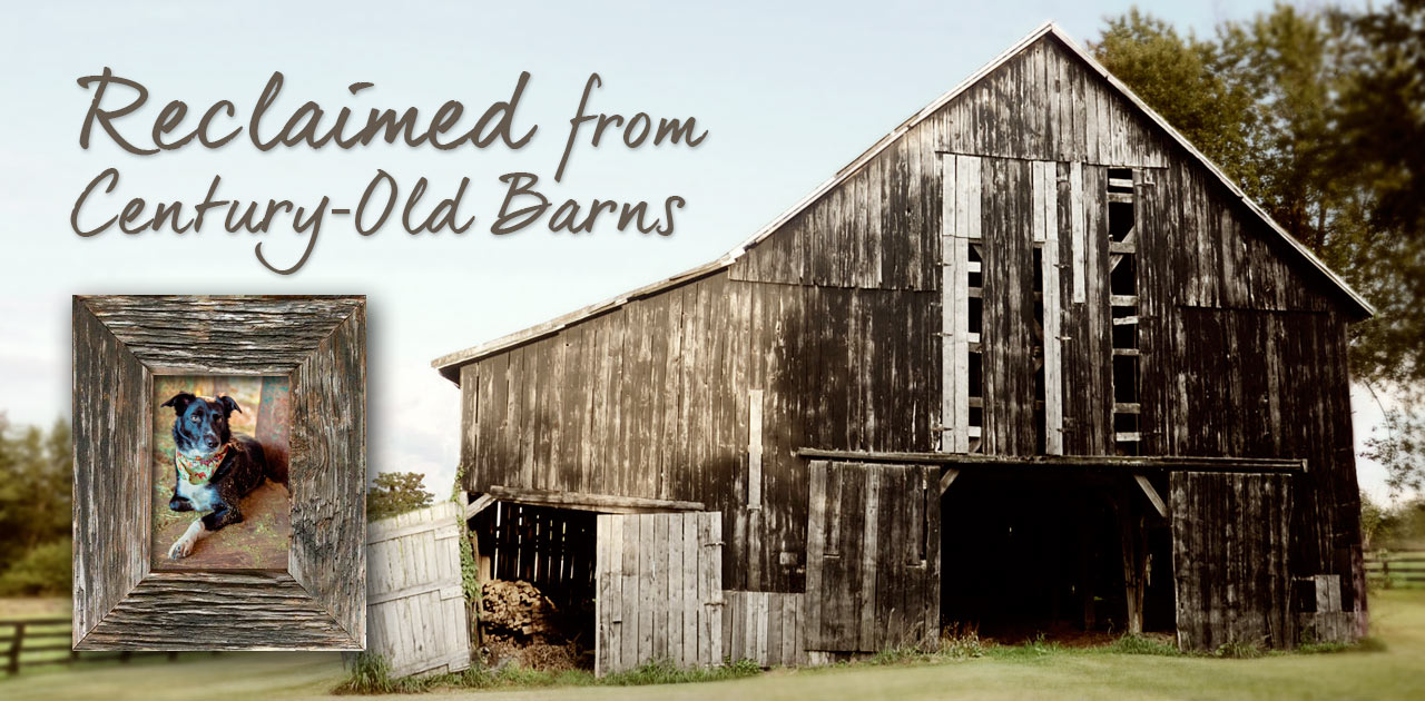 Custom Wood Picture Frames Reclaimed from Century-Old Barns